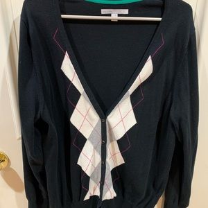 Black patterned cardigan from old navy